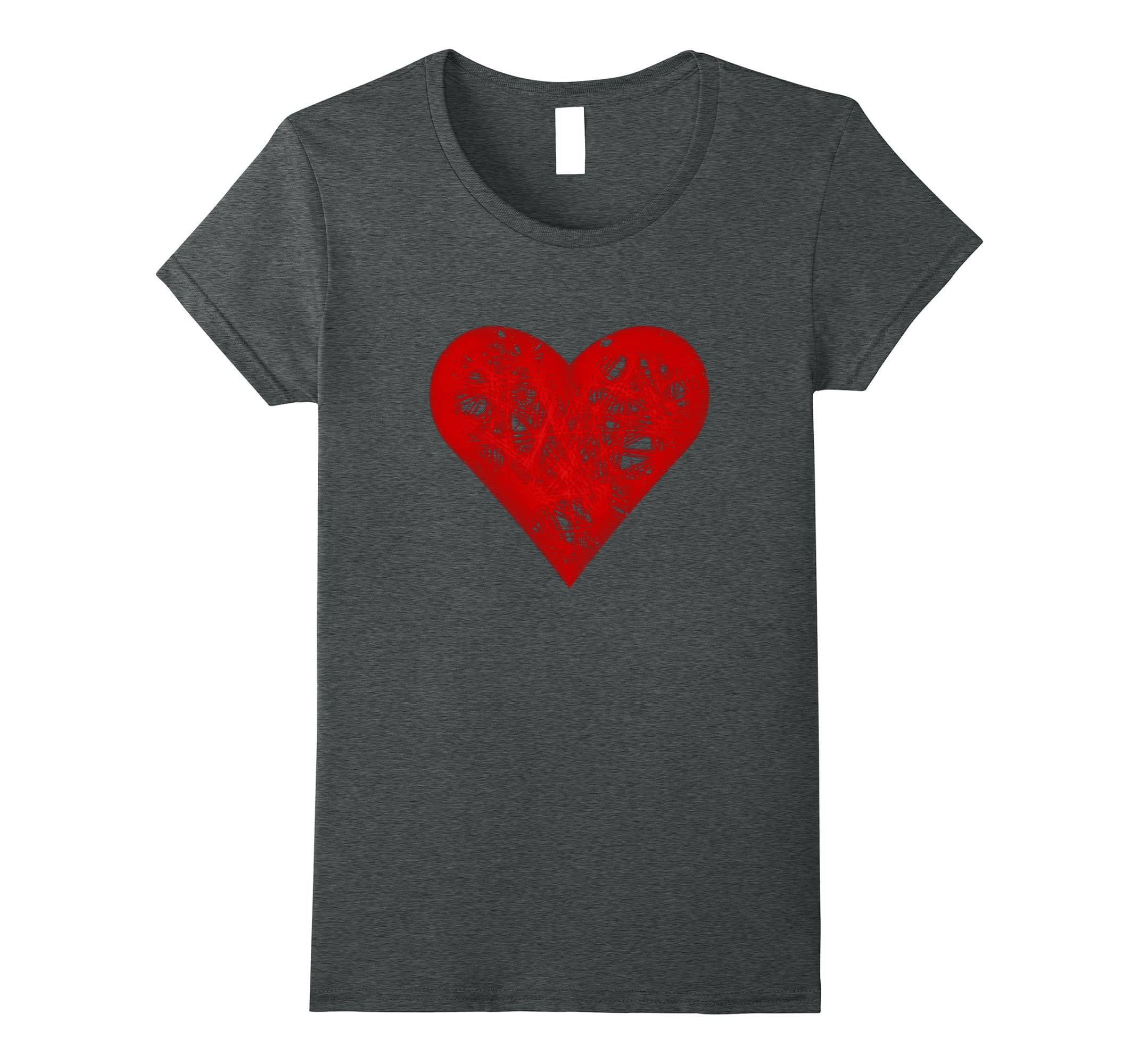 Faded Strings Valentines Day T Shirt