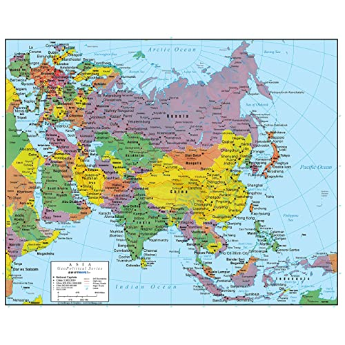 Map Of Europe And Asia Asia Map: Amazon.com