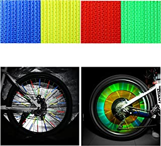 Oumers Cycling Wheel Spoke Reflector Clips, Reflective Mount Clip Tube Warning Strip Made with Scotchlite Reflective Material