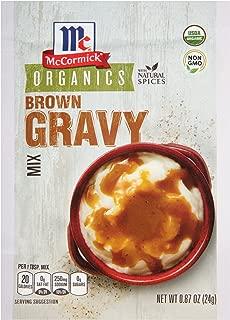 McCormick Organic Brown Gravy Mix, 0.87 oz