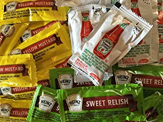 Ketchup, Mustard, Sweet Relish Condiment Combo (Total 75 Packets)
