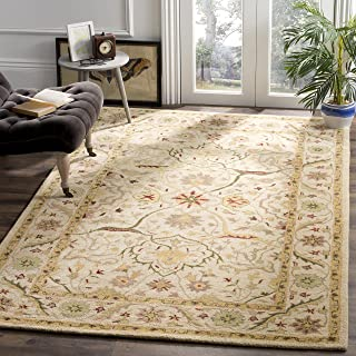 Safavieh Antiquities Collection AT14A Handmade Traditional Oriental Ivory Wool Area Rug (6' x 9')