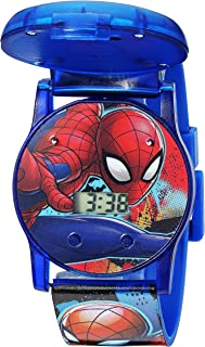 Marvel Boy's Quartz Plastic Watch, Color:Blue (Model: SPD4493)