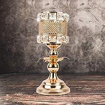 Luxury Gold Tealight Candle Holders, Elegant Sparkle Wedding Candelabra Housewarming Dining Room Coffee Table Decorative C...