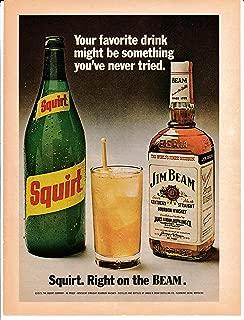 1973 Squirt - Jim Beam -Original Magazine Ad- Right on the Beam- Soda Pop- Mixer