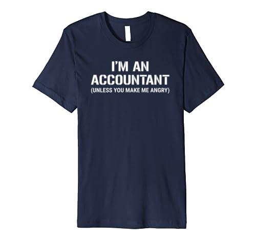 Funny Accountant Im An Accountant Unless You Make Me Angry Premium T-Shirt