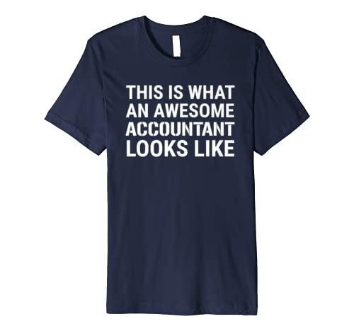This Is What An Awesome Accountant Looks Like Accounting Premium T-Shirt