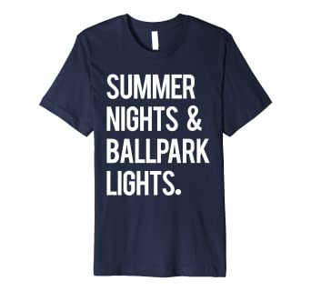 dd18b55b562 Image Unavailable. Image not available for. Color  Summer Nights   Ballpark  Lights Baseball T ...