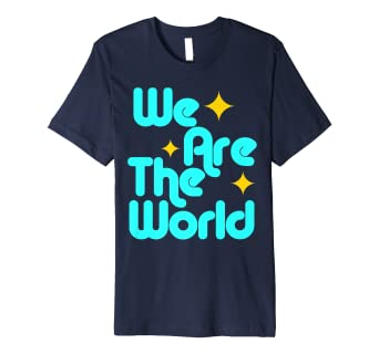 f43a2fd0 Image Unavailable. Image not available for. Color: We are the world t-shirt