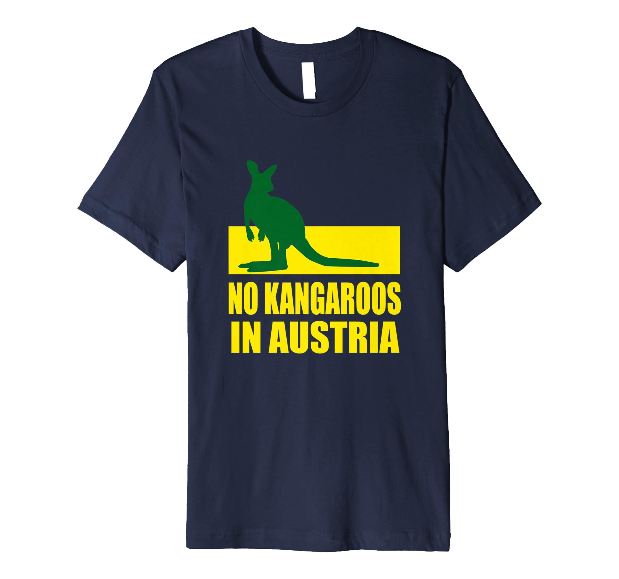 No Kangaroos In Austria T-Shirt - Funny Kangaroo T-Shirt-AZP
