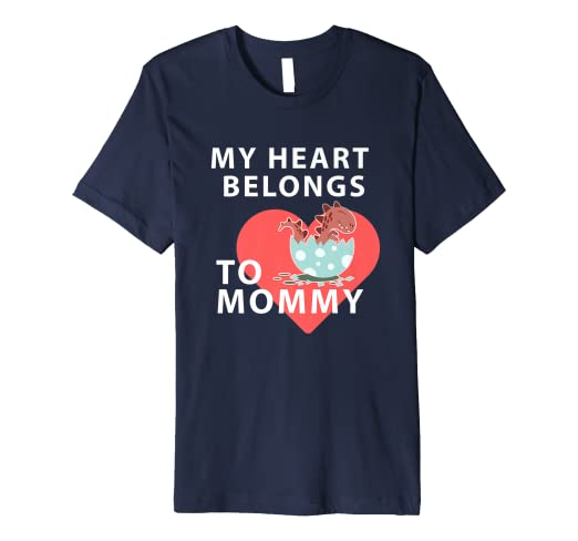 d42a9561 Image Unavailable. Image not available for. Color: My Heart Belongs to Mommy  - Cute Dinosaur Toddler T-Shirt
