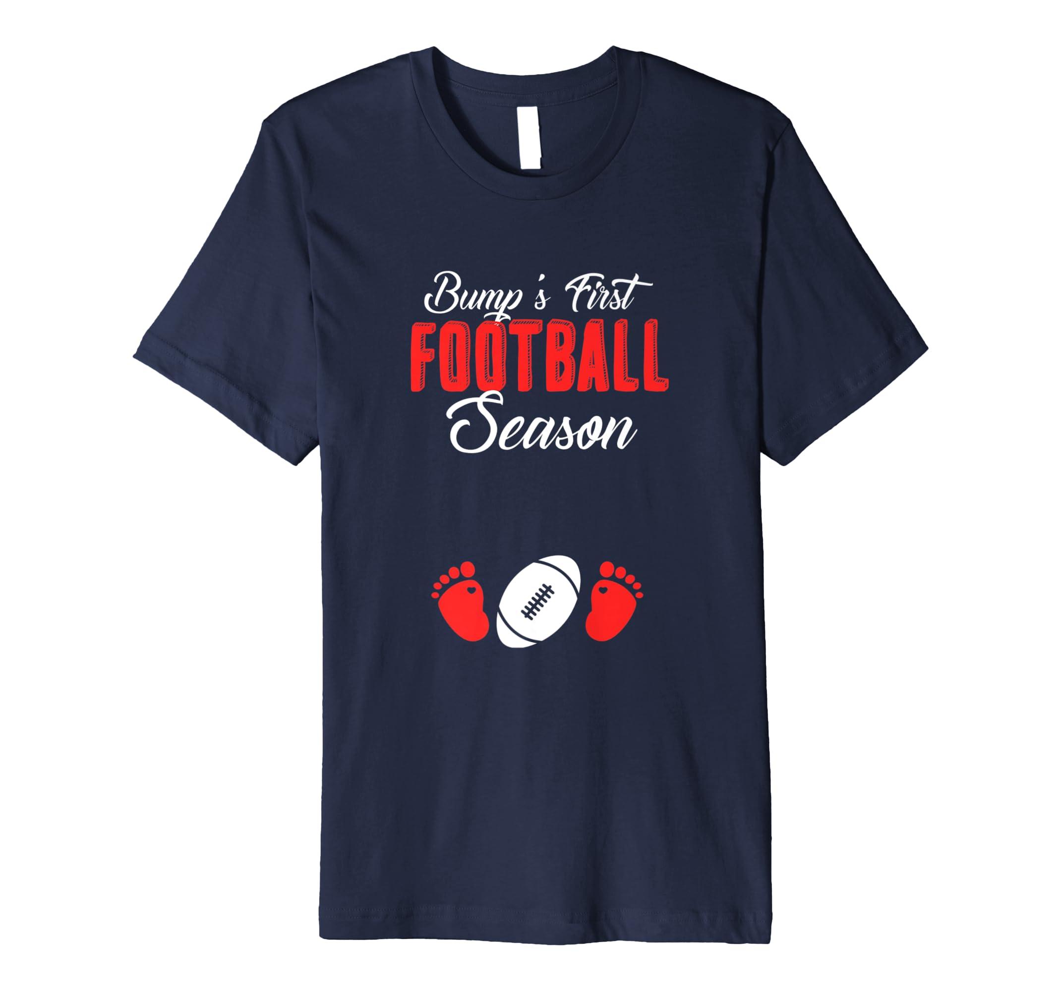 Womens Bump's First Football Season Pregnant Women Gift