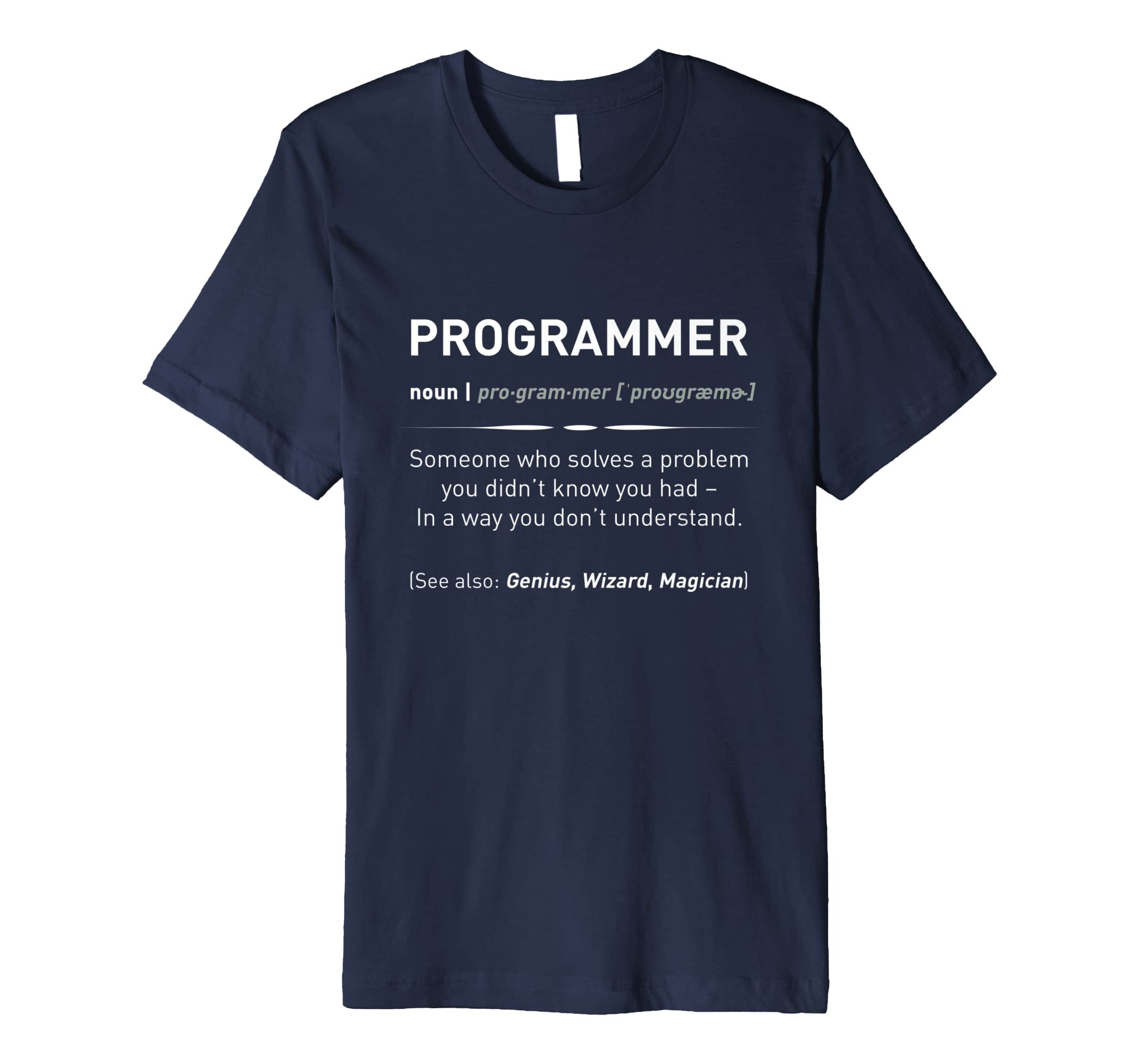 a278e3fc Funny Programmer Meaning T-Shirt | Programmer Noun Defintion: Amazon.co.uk:  Clothing