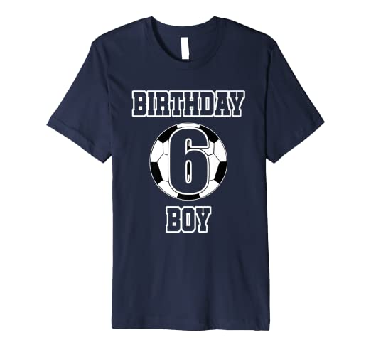 ae01aeb6 Image Unavailable. Image not available for. Color: Kids 6th Birthday Soccer  Ball Shirt For 6 Six Year Old Boy