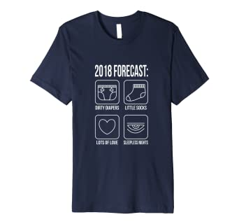 7fcc25998 Image Unavailable. Image not available for. Color: 2018 Forecast New Mom  Dad Expecting Baby T-Shirt