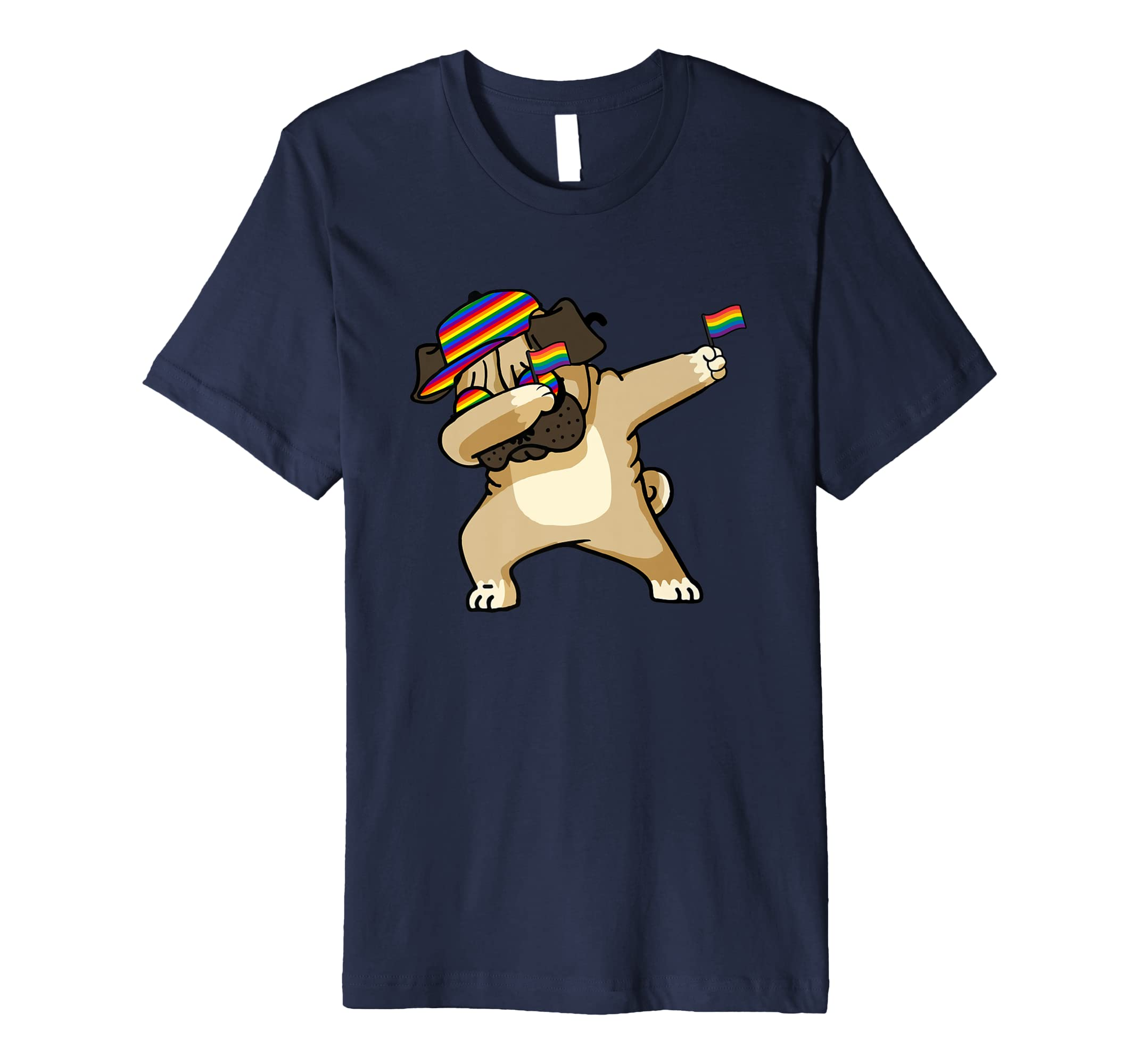 American Pride Polar Dog USA Dabbing Funny T Shirt-AZP