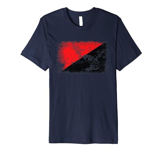 ba14a218424c Amazon.com  Red Black Anarchy Flag T-Shirt