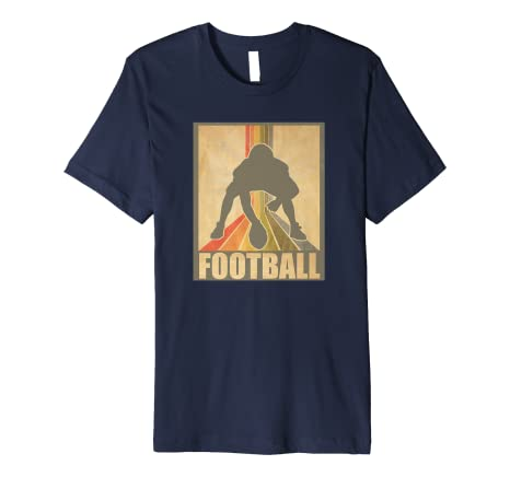 Image Unavailable. Image not available for. Color  Vintage and Retro  American Football Shirt College Football T 6c511ae3f