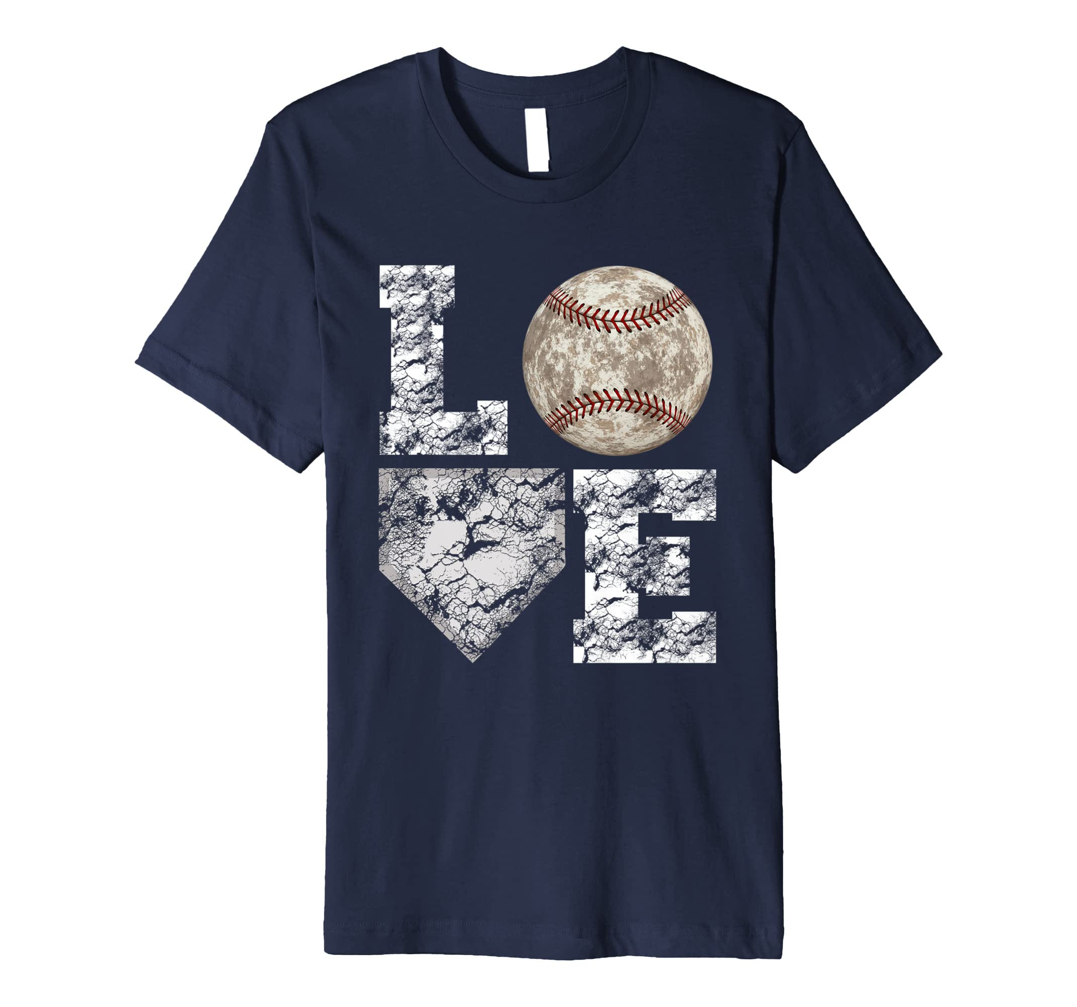 Baseball Distressed Ball T Shirt Cute Dad Mom Love Tee-azvn
