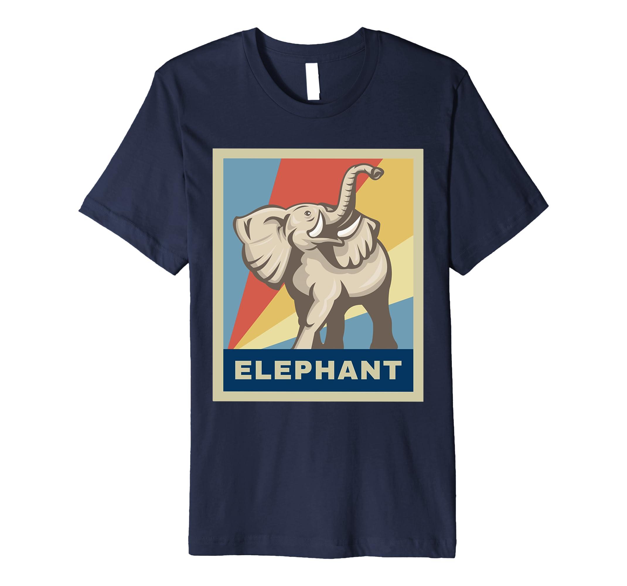 African Elephant Shirt - Vintage Retro Shirt-AZP