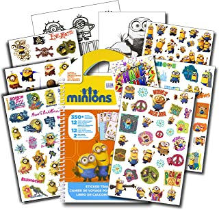 Minions Stickers Travel Activity Set Bundle with Stickers Activities and Specialty Jumbo Reward Stickers