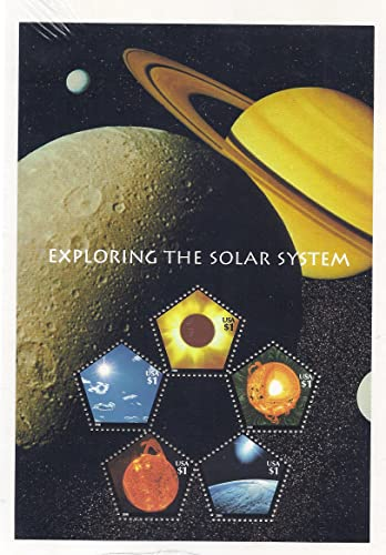 Exploring the Solar System, Full Sheet of 5 x  1.00 Pentagonal Postage Stamps, USA 2000, Scott 3410 by USPS