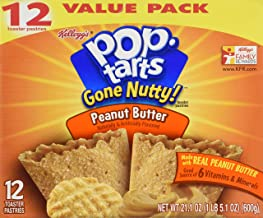 Pop Tarts Gone Nutty! Peanut Butter Flavor Toaster Pastries, 12 pack (21.1 oz)