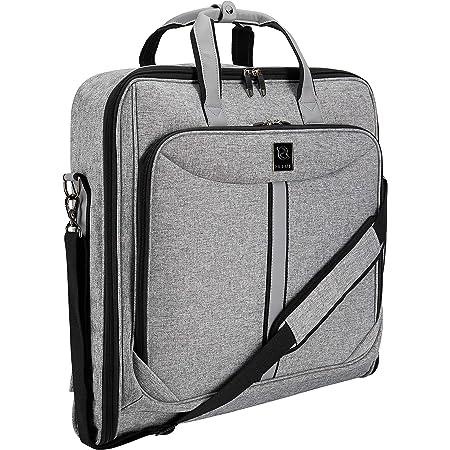 ZEGUR Funda para ropa para 3 trajes o vestidos ideal como equipaje de mano – Maletín de viaje de ocio o de negocios de 1 m – Bolsa con compartimentos y con correa para el hombro ajustable