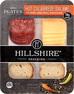 Hillshire Snacking Small Plates, Hot Calabrese Salame with Gouda Cheese, 2.76 oz. (12 count)