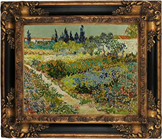 Historic Art Gallery Arles/Flowering Garden with Path by Vincent Van Gogh Framed Canvas Print 11