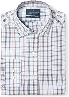 Amazon Brand - BUTTONED DOWN Men's Classic Fit Plaid...