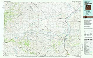 YellowMaps Thermopolis WY topo map, 1:100000 Scale, 30 X 60 Minute, Historical, 1981, Updated 1982, 23.8 x 38.4 in