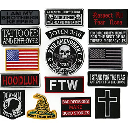 SECRETARY MOTORCYCLE BIKER MC CLUB MILITARY IRON SEW EMBROIDERED VEST PATCH R-18