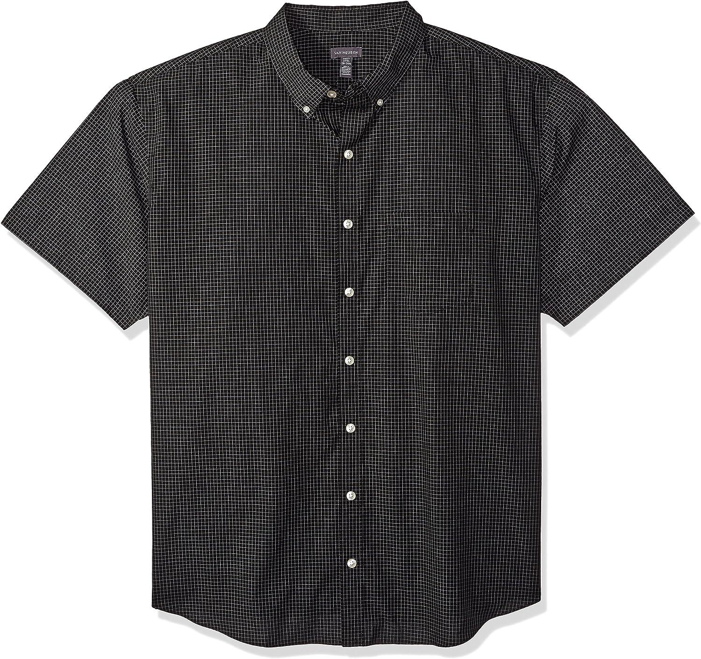 Van Heusen Men's Big & Tall Big and Tall Wrinkle Free Short Sleeve Button Down Twill Shirt