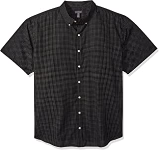 Men's Big and Tall Wrinkle Free Short Sleeve Button Down...