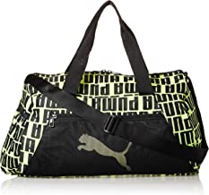 حقيبة رياضية للنساء بتصميم اسطواني تشكيلة ات اي اس اس من بوما، اسود (اسود/ اصفر) - 07736504