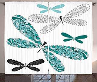 heritage lace dragonfly curtains