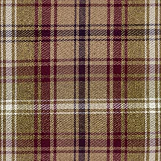 McAlister Textiles Angus Fabric | Mulberry Purple + Green Tartan Check DIY Crafting Material Decorative Fabric for Upholstery and Home Décor | Fabric Swatch 3x7 Inches