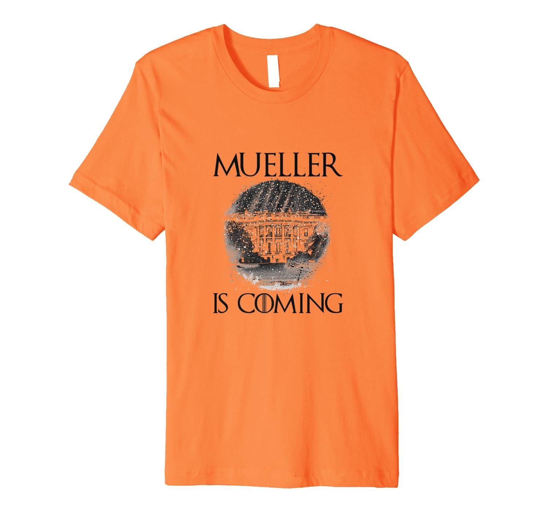 Mueller Is Coming Halloween Orange Costume Shirts