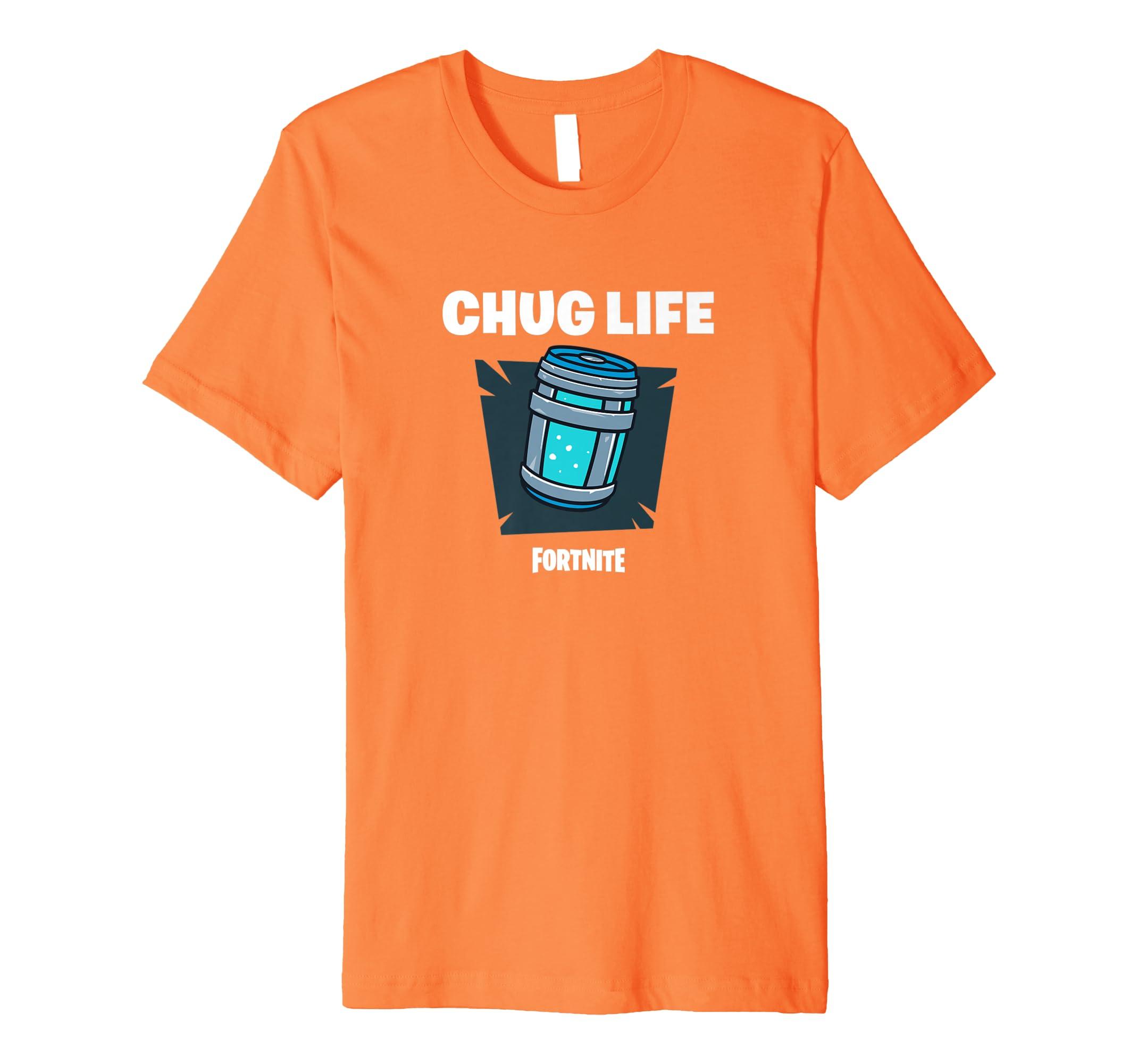 Amazon Com Fortnite Chug Life T Shirt Clothing