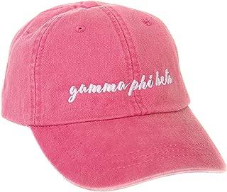 Desert Cactus Gamma Phi Beta (N) Sorority Baseball Hat Cap Cursive Name Font Gamma phi