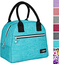 OPUX Lunch Bag for Women | Insulated Lunch Tote for Ladies, Girls, Female | Medium Reusable Soft Lunch Box Purse Cooler for School, Work, Office | Fits 12 Cans (Turquoise)