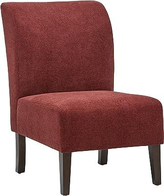 "Amazon Brand – Stone & Beam Lummi Modern Armless Slipper Accent Chair, 21.6""W, Chianti"