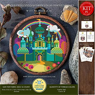 The Wizard of Oz #K117 Cross Stitch Embroidery Kit | Cartoon Cross Stitch Kits | Embroidery Kits | Needlepoint Kits | Cross Stitch Embroidery