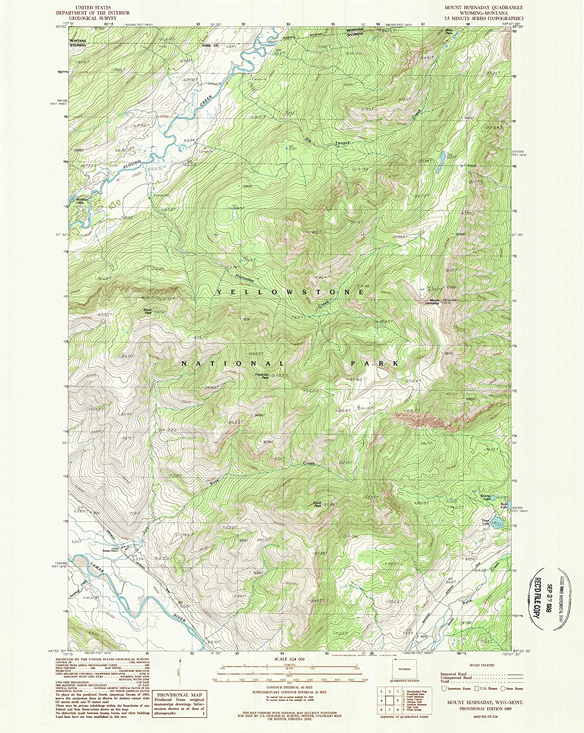 YellowMaps Mount Hornaday WY topo 1:24000 map X Scale 7.5 Oklahoma City Mall specialty shop