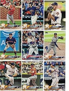 Houston Astros / Complete 2018 Topps Series 1 & 2 Baseball 28 Card Team Set! Includes 25 bonus Astros Cards!