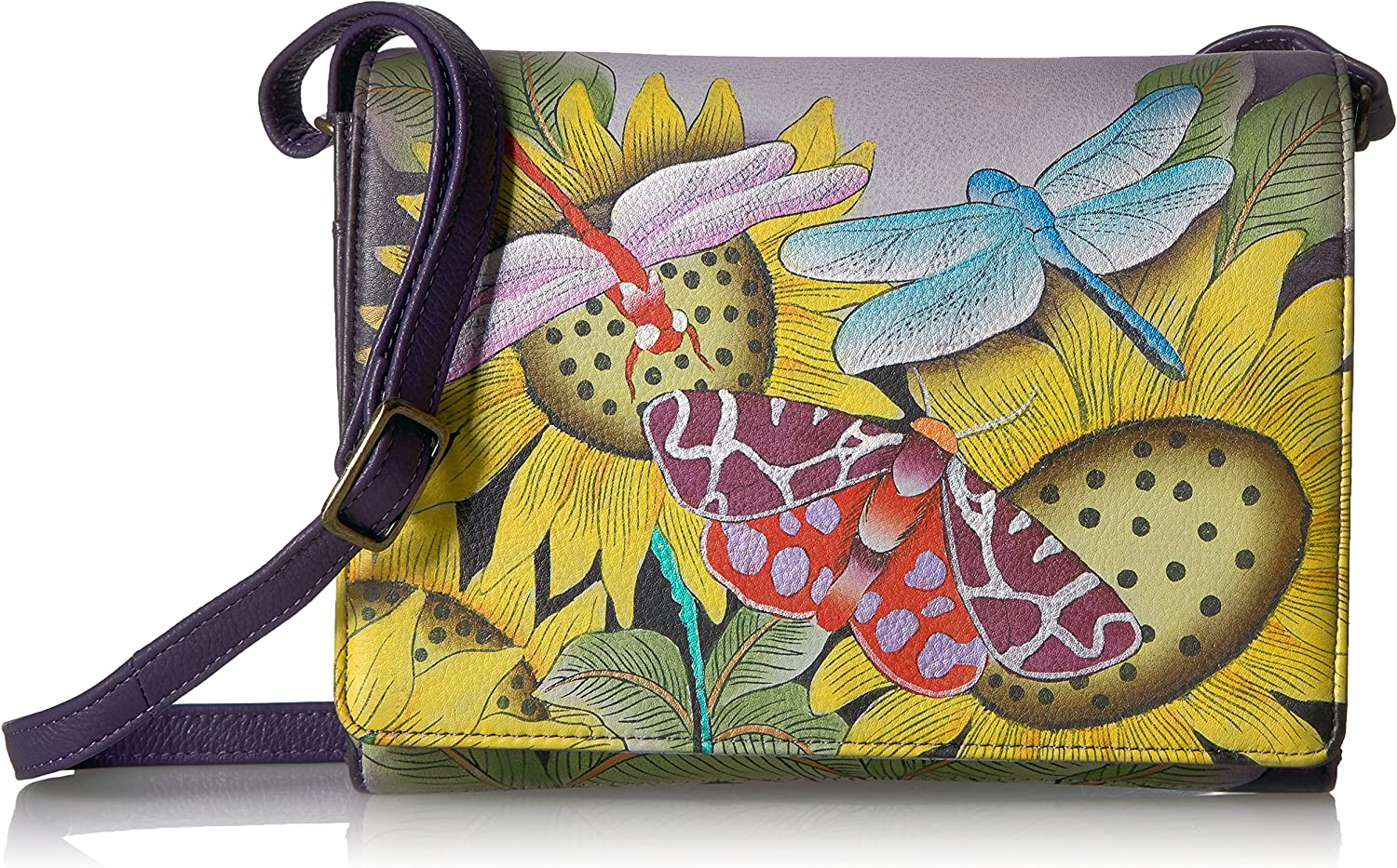 Anuschka Anna Handpainted Leather Women's Flap Cross Body