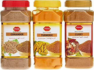PRAN Spices Powder Tur+Curry+Coriander Offer pack 180 gm pack of 3