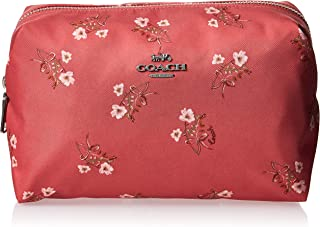 Coach Large Boxy Cosmetic Case With Floral Bow Print