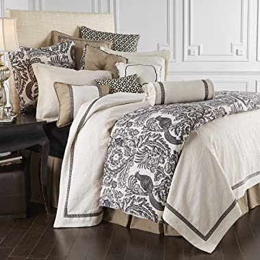 HiEnd Accents Augusta Black & White French Toile Euro Sham Pillow Cover